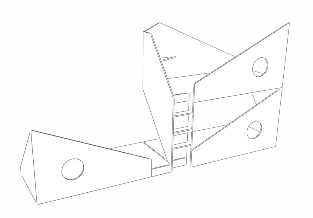 Preisbeispiel für die Ausführung von einem Triple-Etagenbett mit drei Schlafplätzen.
